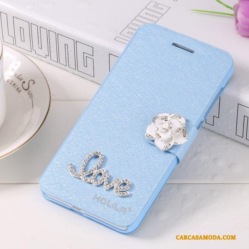 iPhone X Anti-caída Funda Silicona Carcasa Azul Protección Teléfono Móvil Clamshell
