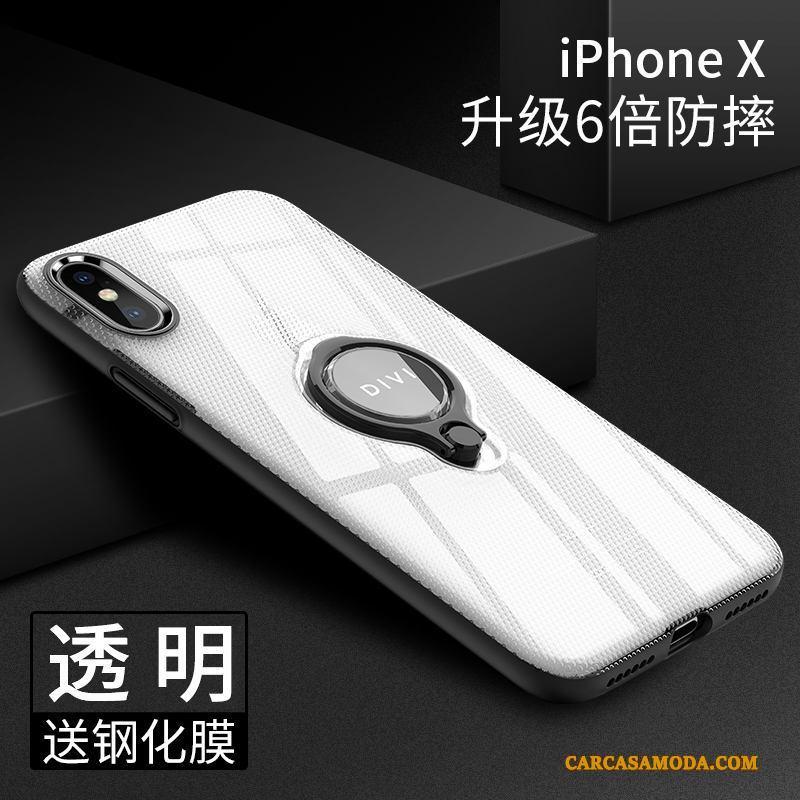 iPhone X Suave Todo Incluido Nuevo Negro Silicona Anillo Funda Silicona