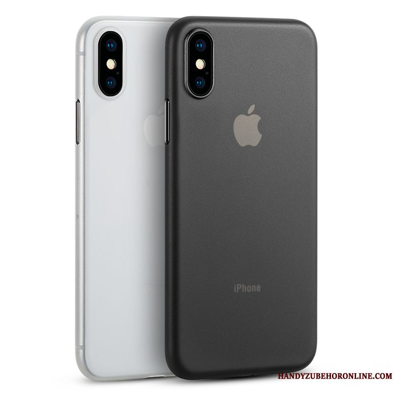 iPhone Xs Protección Todo Incluido Transparente Funda Silicona Business Patrón Simple